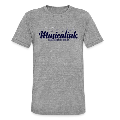 Musicalink blue - T-shirt chiné Bella + Canvas Unisexe