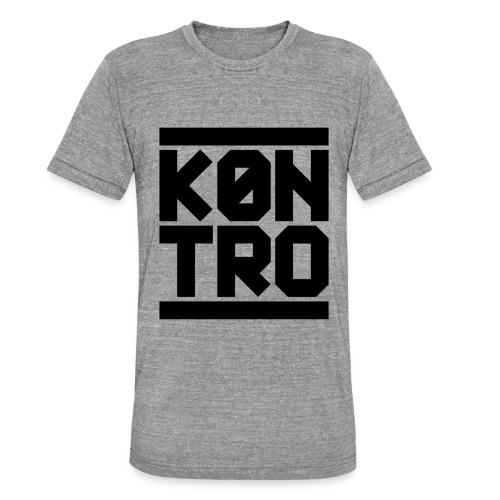 KONTRO Black Logo - Bella + Canvasin unisex Tri-Blend t-paita.