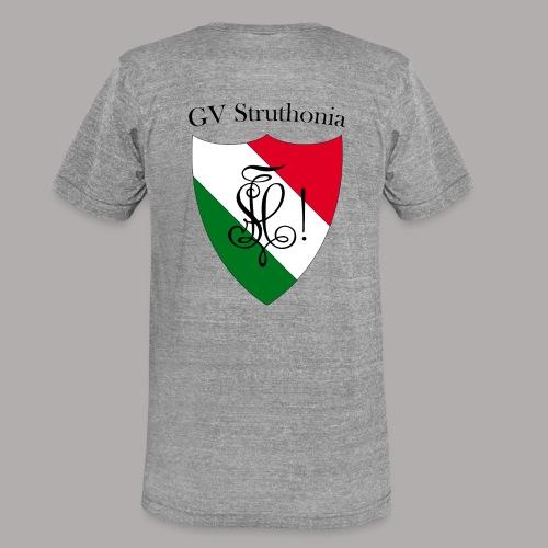 Wappen Struthonia beschriftet - Unisex Tri-Blend T-Shirt von Bella + Canvas