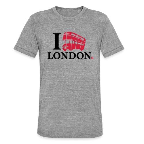 I love (Double-decker bus) London - Unisex Tri-Blend T-Shirt by Bella & Canvas