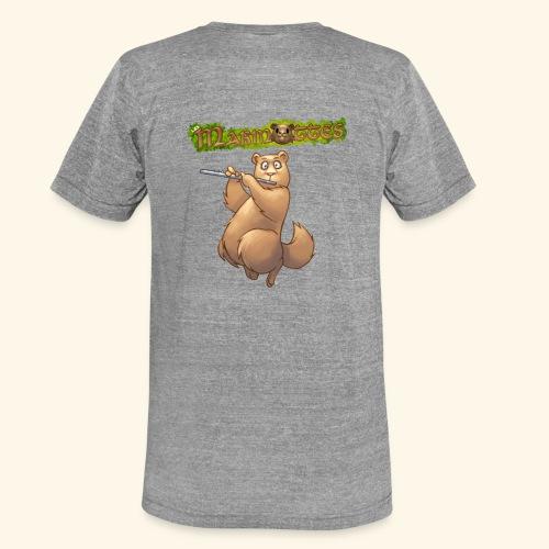 Tshirt Flute dos 2 - T-shirt chiné Bella + Canvas Unisexe