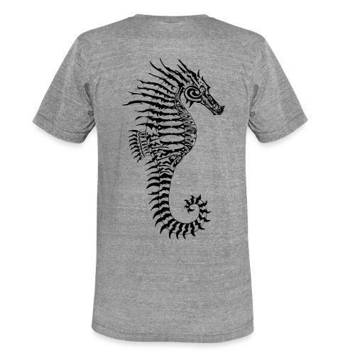 Alien Seahorse Invasion - Unisex Tri-Blend T-Shirt by Bella & Canvas