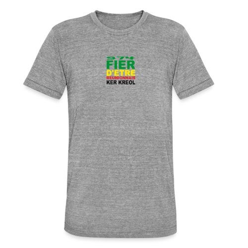 Logo fier d'etre kreol 974 ker kreol - Rastafari - T-shirt chiné Bella + Canvas Unisexe