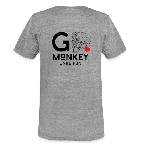 GO MONKEY - Unite fun - Unisex tri-blend T-skjorte fra Bella + Canvas
