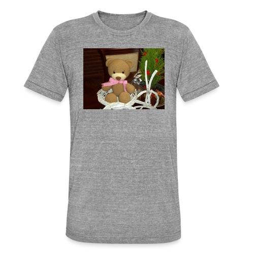 Oso amigurumi de crochet hecho a mano,suave - Camiseta Tri-Blend unisex de Bella + Canvas