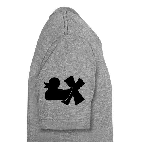 Ente mit X v3 3 klein - Unisex Tri-Blend T-Shirt von Bella + Canvas