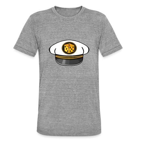 """Captain Hat vorne / """"getonboard.tv"""" seitlich - Unisex Tri-Blend T-Shirt von Bella + Canvas"""