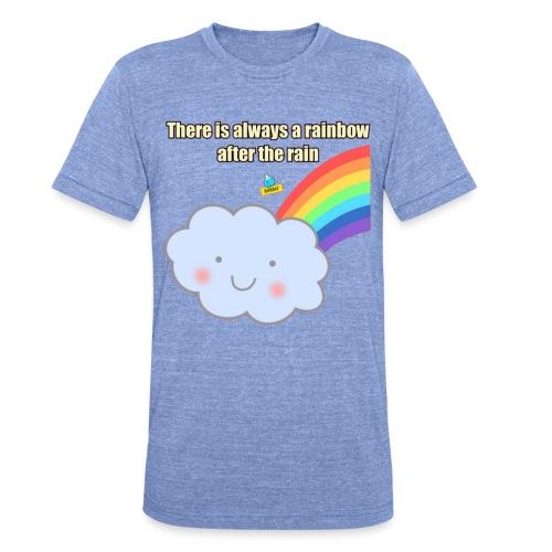 Bubbly! Rainbow - Maglietta unisex tri-blend di Bella + Canvas