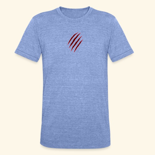 garras - Camiseta Tri-Blend unisex de Bella + Canvas