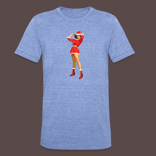 Vintage pin up girl - Happy Holidays! - Maglietta unisex tri-blend di Bella + Canvas