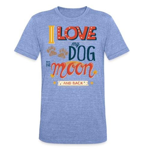 Moon Dog Light - Triblend-T-shirt unisex från Bella + Canvas