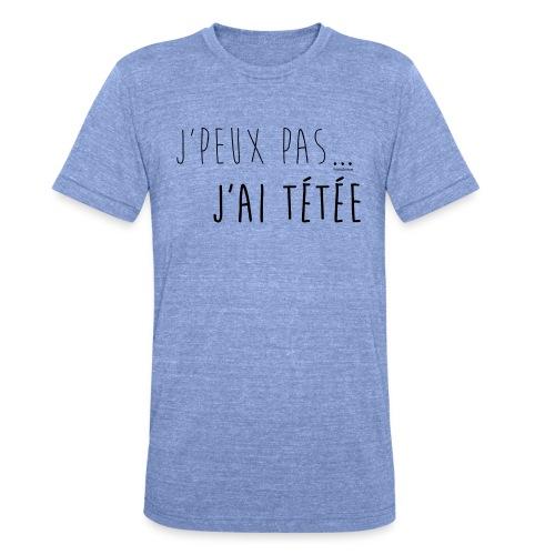 Jpeux pas j ai te te e noir T-shirt femme - T-shirt chiné Bella + Canvas Unisexe