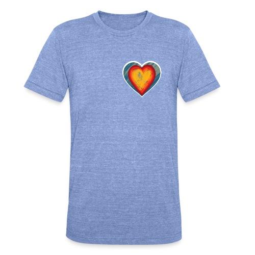 Warm lovely heart - Unisex Tri-Blend T-Shirt by Bella & Canvas