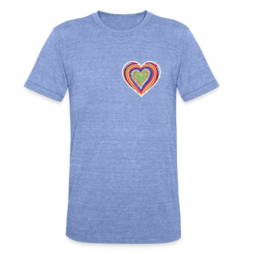 A heart in hearts is pure love on many levels - Unisex Tri-Blend T-Shirt by Bella & Canvas