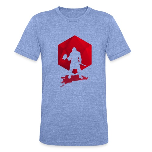 Brutal Barbarian - Dungeons and Dragons dnd d20 - Bella + Canvasin unisex Tri-Blend t-paita.