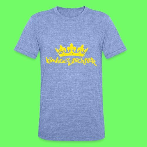Königstochter m. Krone über der stylischen Schrift - Unisex Tri-Blend T-Shirt von Bella + Canvas