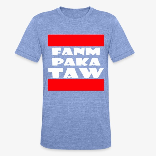 fanm paka taw - T-shirt chiné Bella + Canvas Unisexe