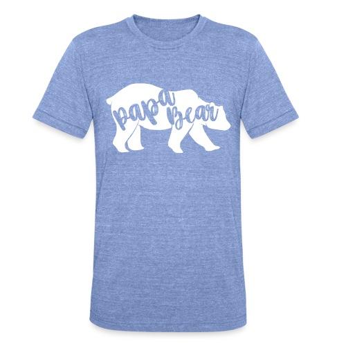 Papa Bear - für Eltern-Baby-Partnerlook - Unisex Tri-Blend T-Shirt von Bella + Canvas