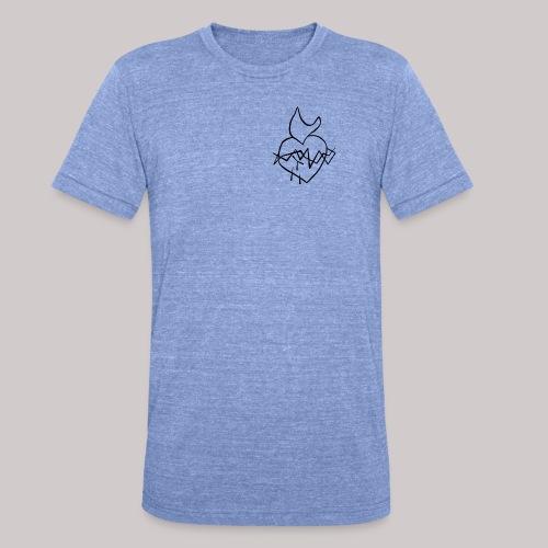 Sagrado Corazón de Jesús - Camiseta Tri-Blend unisex de Bella + Canvas