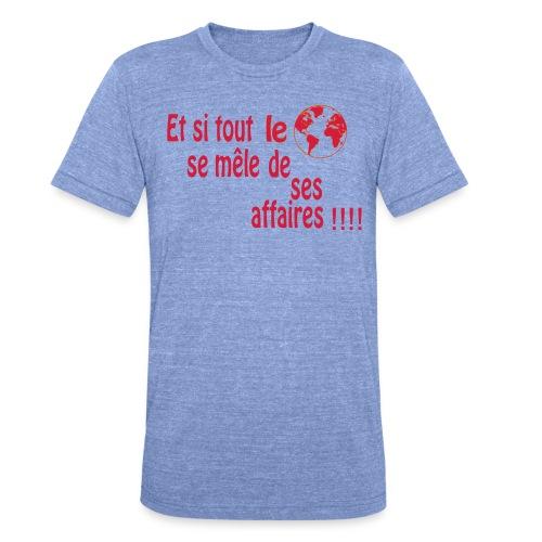 BNT création - T-shirt chiné Bella + Canvas Unisexe