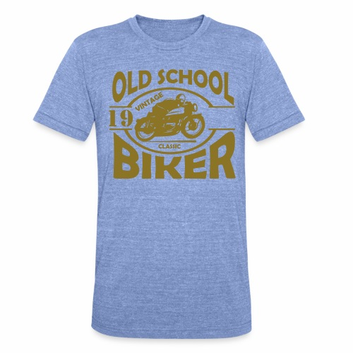 Old School Biker (customise the year) - Unisex Tri-Blend T-Shirt by Bella & Canvas
