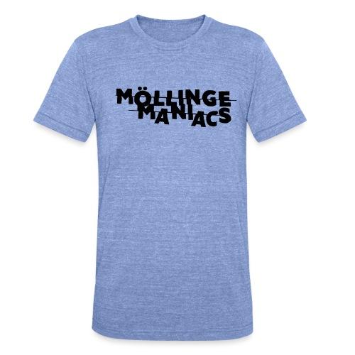 Möllinge Maniacs svart logga - Triblend-T-shirt unisex från Bella + Canvas