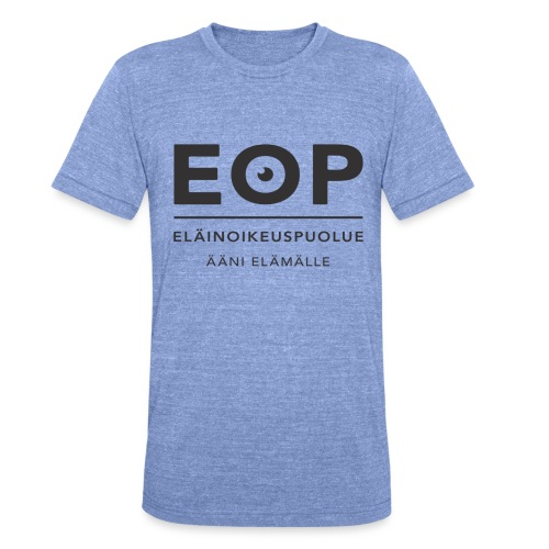 EOP Logo slogan musta - Bella + Canvasin unisex Tri-Blend t-paita.
