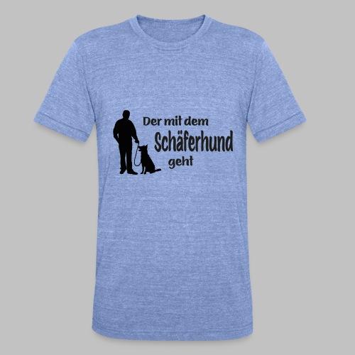 Der mit dem Schäferhund geht - Black Edition - Unisex Tri-Blend T-Shirt von Bella + Canvas