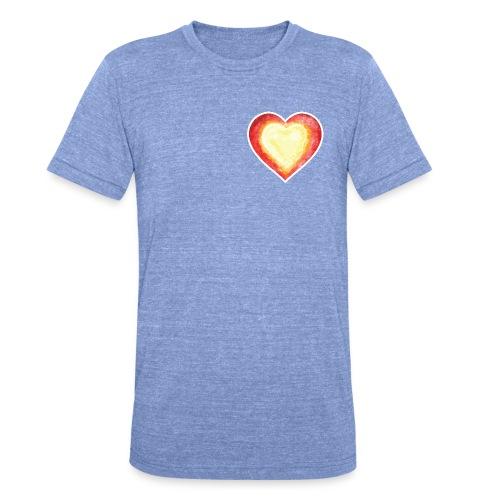 Burning Fire heart - Unisex Tri-Blend T-Shirt by Bella & Canvas