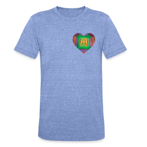HH with a Heart - Unisex Tri-Blend T-Shirt by Bella & Canvas
