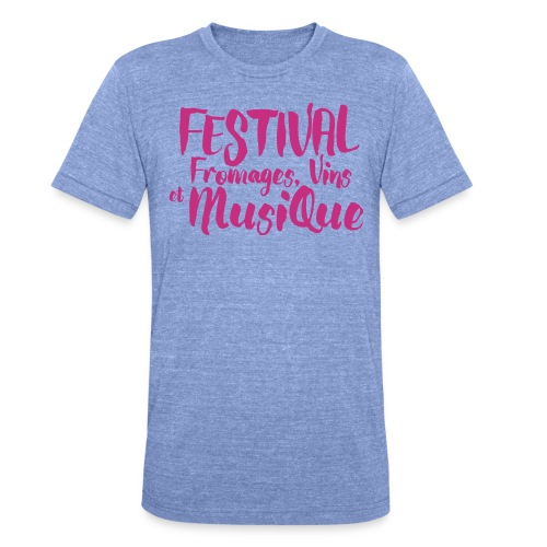 Festival FVM - T-shirt chiné Bella + Canvas Unisexe