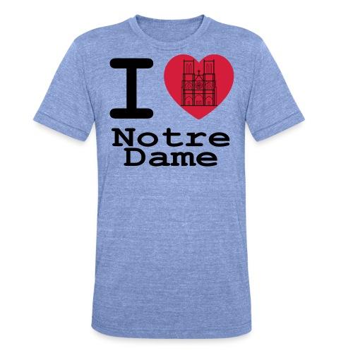 I love Notre Dame - Unisex tri-blend T-shirt van Bella + Canvas