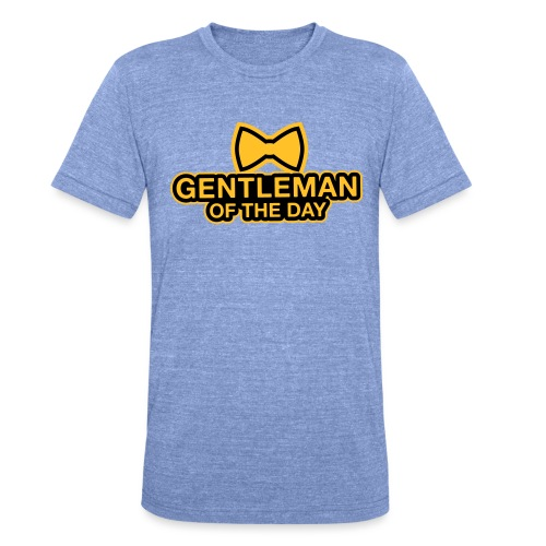 Gentleman of the day - JGA T-Shirt - Bräutigam - Unisex Tri-Blend T-Shirt von Bella + Canvas