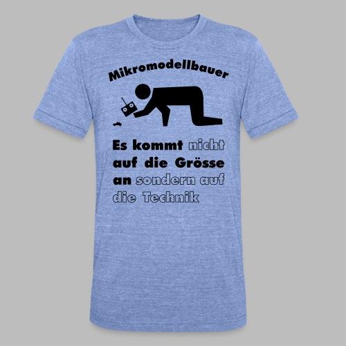 Mikromodellbau Weisheit - Unisex Tri-Blend T-Shirt von Bella + Canvas