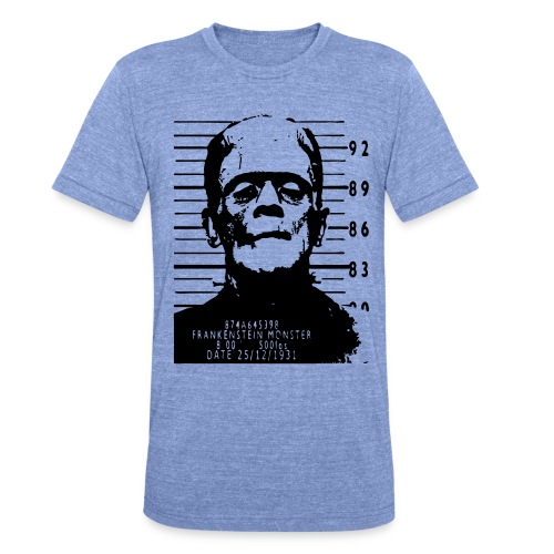 frankenstein arrested - Camiseta Tri-Blend unisex de Bella + Canvas