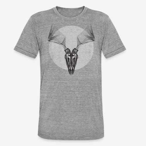 Hirschgeweih - Unisex Tri-Blend T-Shirt von Bella + Canvas