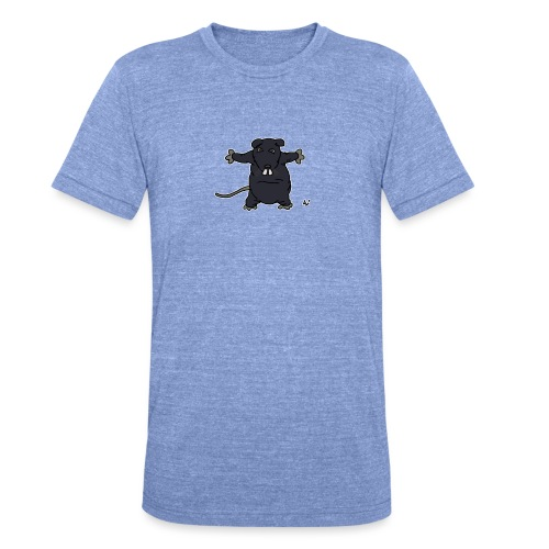 Henkie le rat en peluche - T-shirt chiné Bella + Canvas Unisexe
