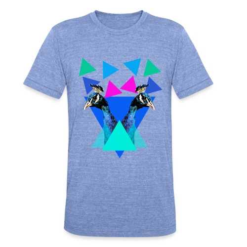 peacocks - Camiseta Tri-Blend unisex de Bella + Canvas