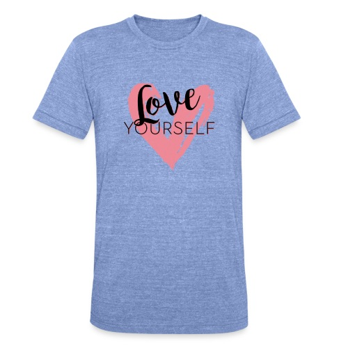 Love Yourself Pascal Voggenhuber - Unisex Tri-Blend T-Shirt von Bella + Canvas