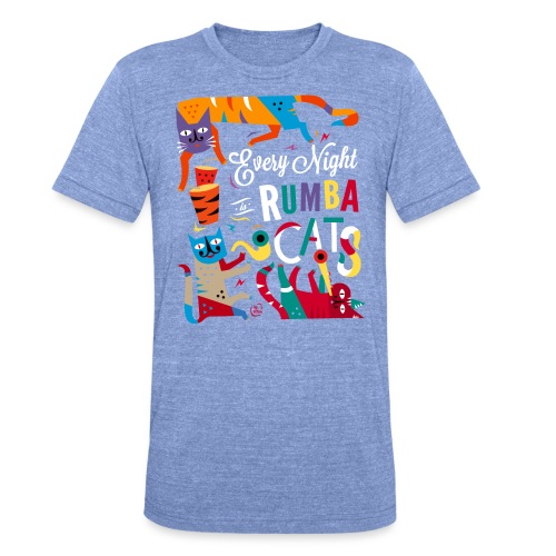 Chats Musique - Rumba salsa mambo - T-shirt chiné Bella + Canvas Unisexe