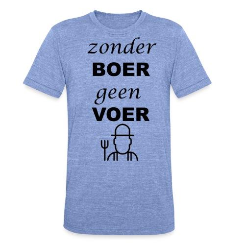 Zonder BOER geen VOER - Unisex tri-blend T-shirt van Bella + Canvas