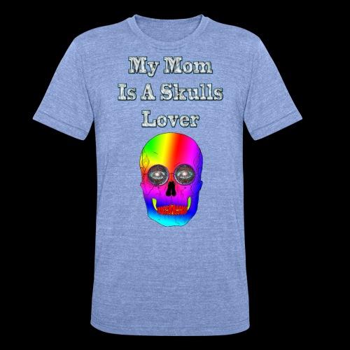 Maman ma mère aime les têtes de mort - T-shirt chiné Bella + Canvas Unisexe