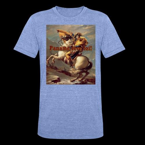 Paname lèvve toi ! - T-shirt chiné Bella + Canvas Unisexe