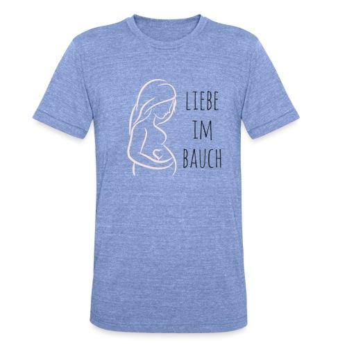 Liebe im Bauch - Unisex Tri-Blend T-Shirt von Bella + Canvas