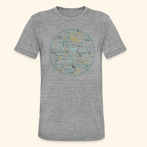 Ich bin - Unisex Tri-Blend T-Shirt von Bella + Canvas