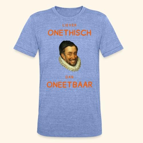 Liever onethisch dan oneetbaar - Unisex tri-blend T-shirt van Bella + Canvas