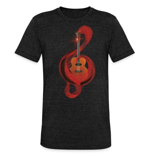 Power of music - Maglietta unisex tri-blend di Bella + Canvas
