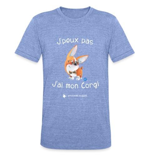 J'peux pas j'ai mon corgi - T-shirt chiné Bella + Canvas Unisexe