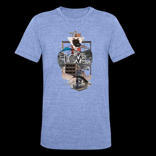 LOVE - Unisex Tri-Blend T-Shirt von Bella + Canvas