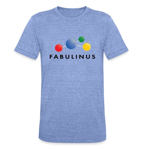 Fabulinus logo dubbelzijdig - Unisex tri-blend T-shirt van Bella + Canvas